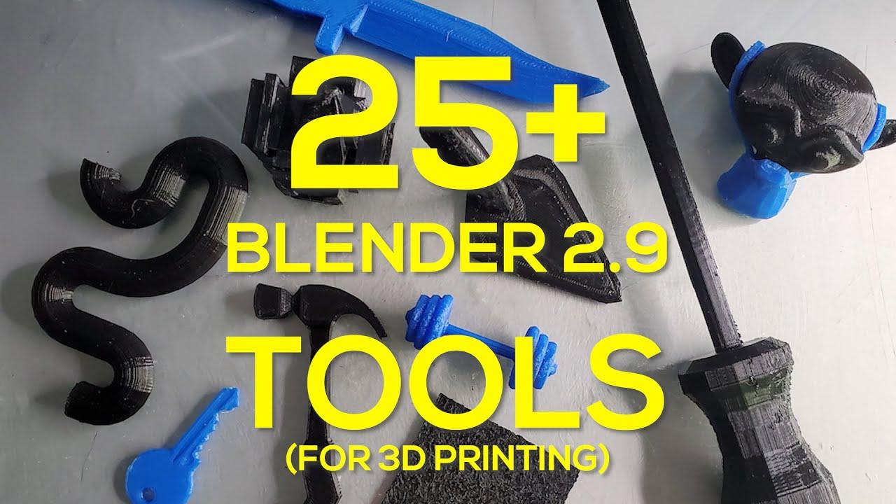 ALL Blender 2.9 Tools for 3D Print Design