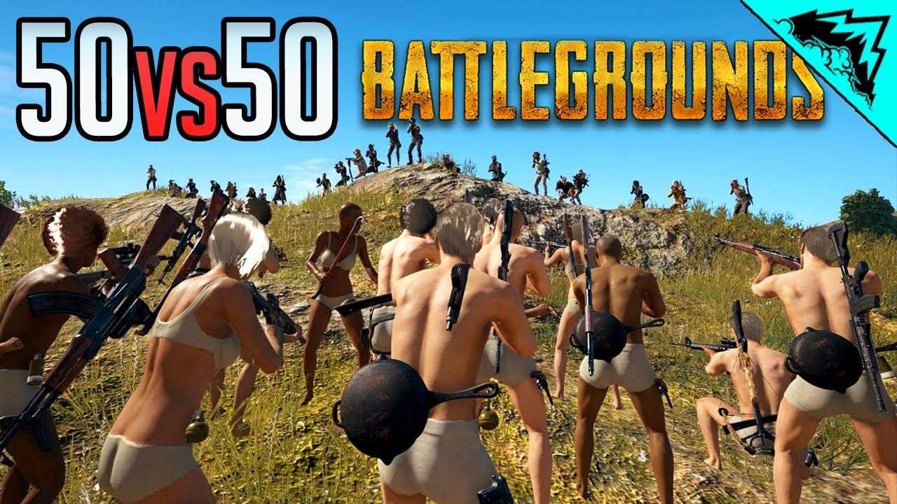 50v50 PUBG - Player Unknown Battlegrounds Highlights (Custom Games Gameplay)