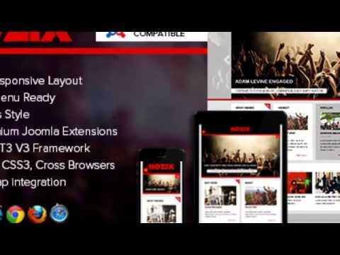 Nozix - Music  Blog Responsive Joomla Template