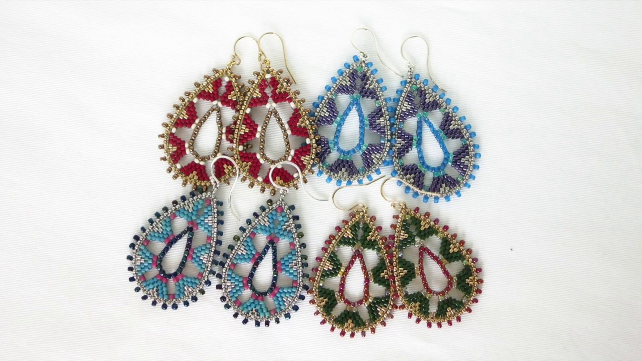 beading simple brick pattern earrings tutorial radiant patterns product circular stitch hugerect bead