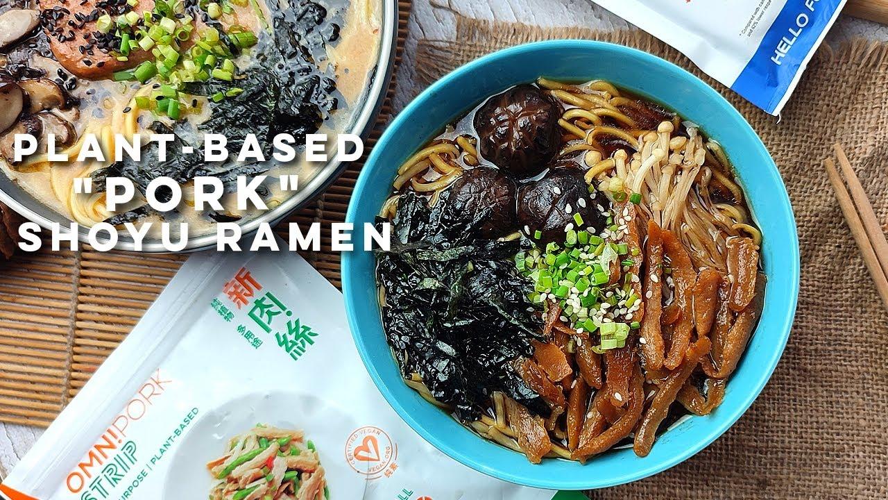 "Plant-Based ""Pork"" Shoyu Ramen | Easy Vegetarian Ramen Recipe"
