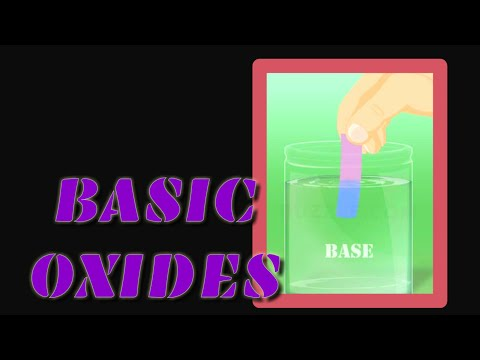 The Basic Oxides