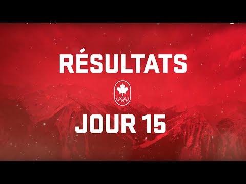 Résultats du jour 15 - Équipe Canada