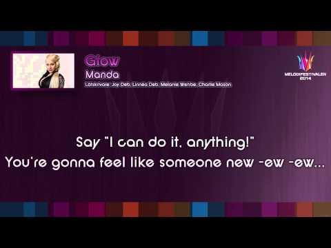 "Manda - ""Glow"" (Instrumental) - on screen lyrics"