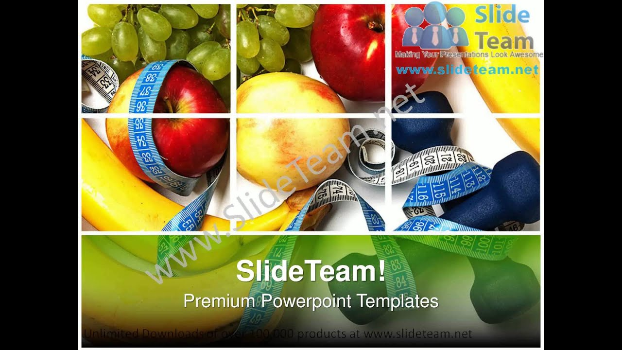 Healthy Food Powerpoint Templates Ppt Themes 0912 Slides Backgrounds