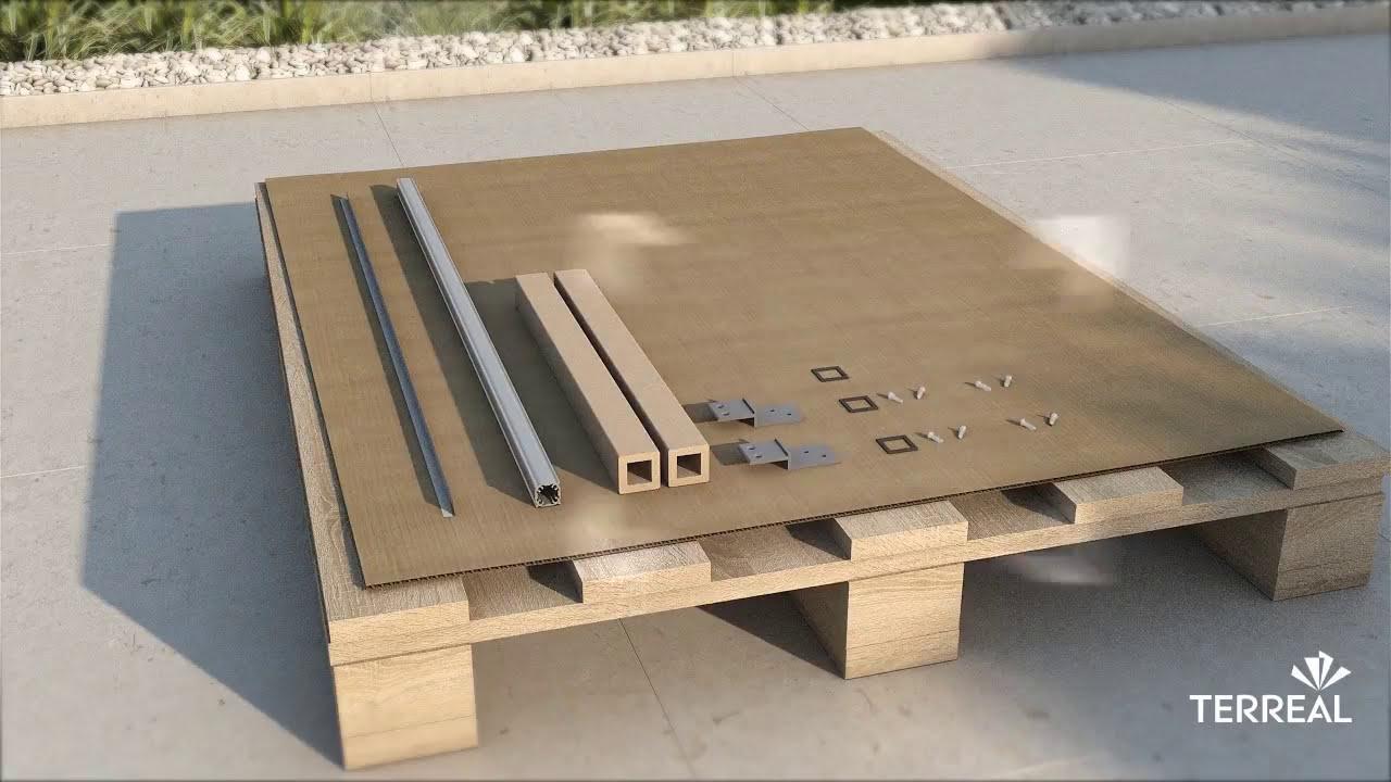 guide de pose brise soleil terreal youtube. Black Bedroom Furniture Sets. Home Design Ideas