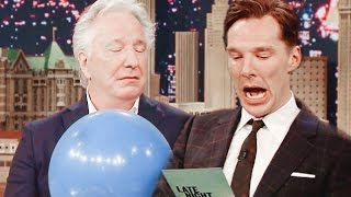 Benedict Cumberbatch Impersonating Alan Rickman...and how Alan Rickman reacts to it