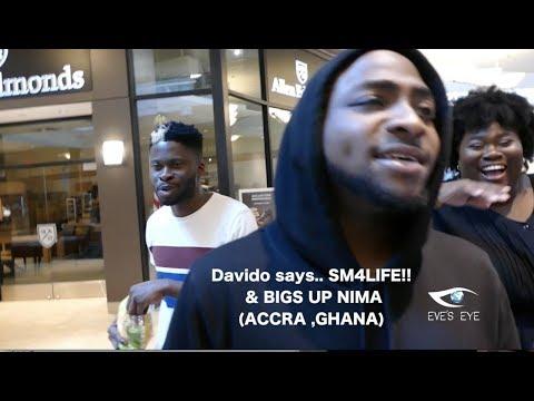 Davido Bigs up Accra Nima & SM4Life(Shatta Wale ) | Columbus Ohio Vlog | Eve's Eye