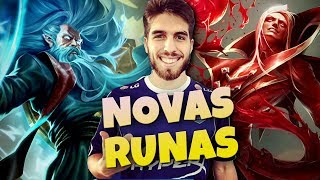 TESTANDO AS NOVAS RUNAS COM OS MAINS!