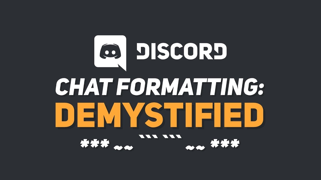 Text Formatting EXPLAINED! (Discord \\ 2019)