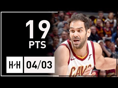 Jose Calderon Full Highlights Cavs vs Raptors (2018.04.03) - 19 Points!
