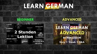 Learn German: From Beginner To Advanced   3  Hours Video Lesson