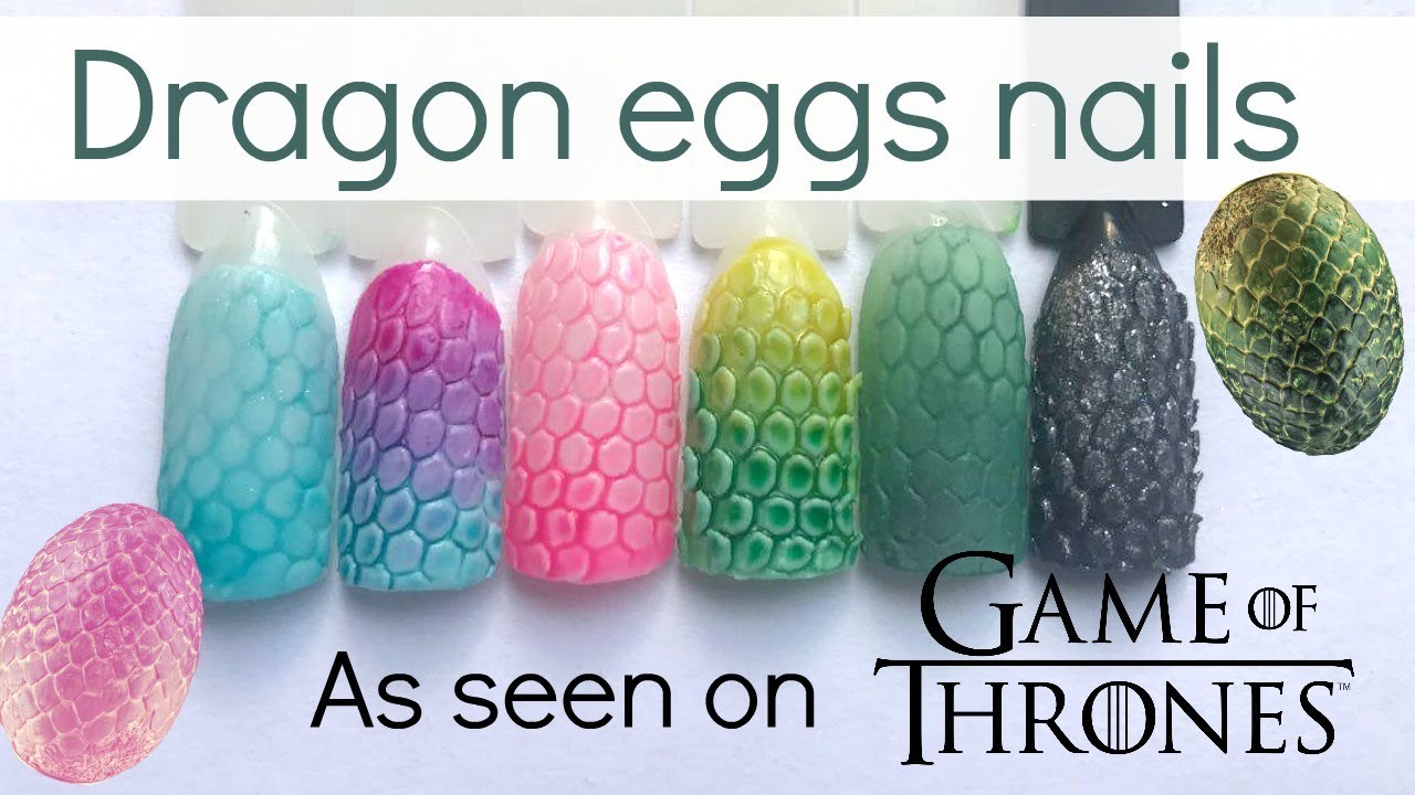Game of Thrones inspired: colorful dragon eggs nails | Easy nailart ...
