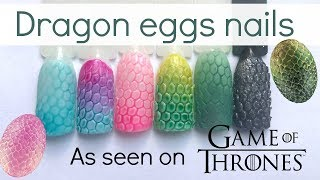 Game of Thrones inspired: colorful dragon eggs nails   Easy nailart tutorial