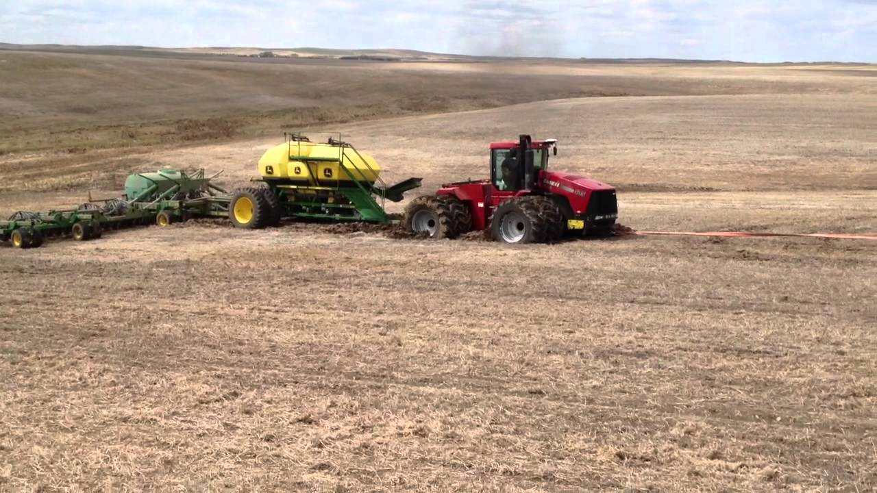 Case Ih 535 Stuck With Air Seeder Youtube
