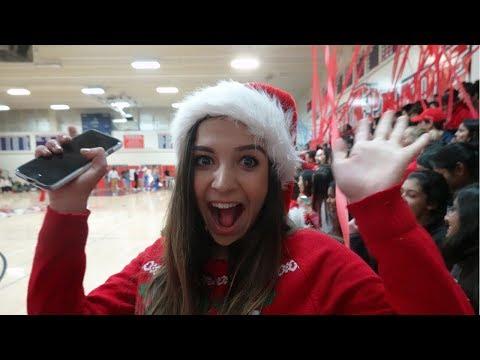 WINTER High School PEP RALLY Vlog (SENIOR YEAR)