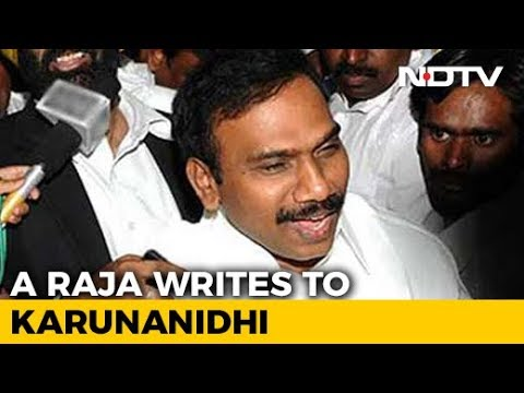 """I Place 2G Verdict At Your Feet,"" A Raja Writes To DMK Chief Karunanidhi"