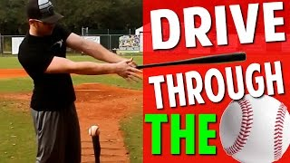 baseball hitting drill more bat speed   staying through the ball pro speed baseball