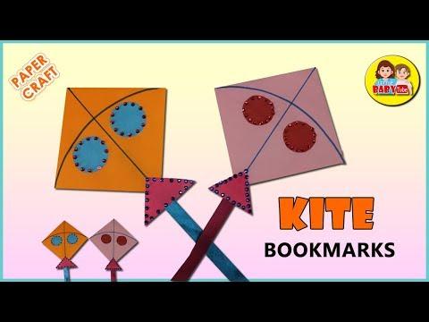 How To Make Kite Bookmark   Easy Bookmark   Sankranti Special   DIY
