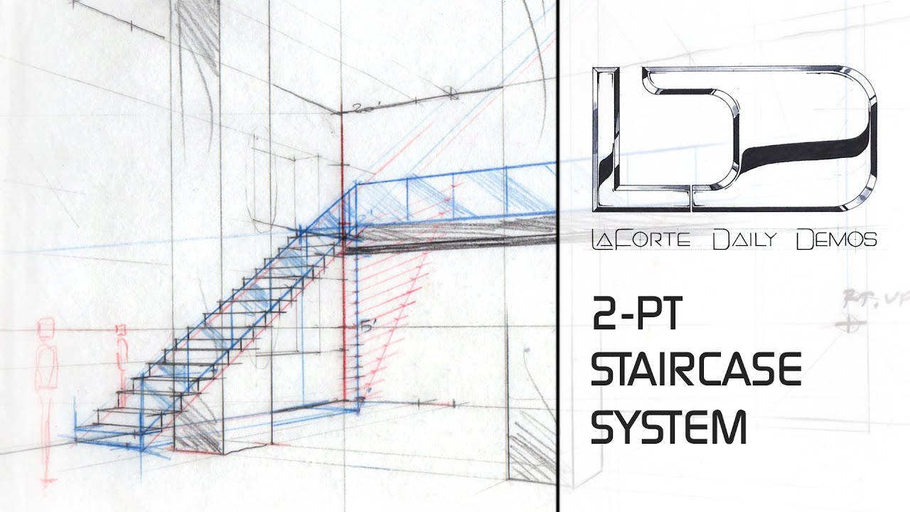 Staircase in 2-pt Perspective using Division - YouTube