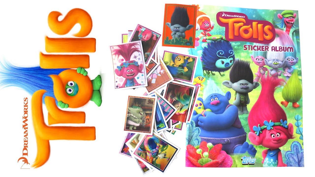 TROLLS STICKER STARTER PACK | STICKER ALBUM & 30 STICKERS ...