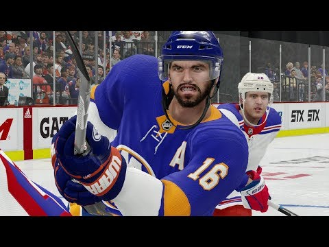 NHL 19 Gameplay New York Rangers vs New York Islanders (NHL 19 Xbox One EA Access)
