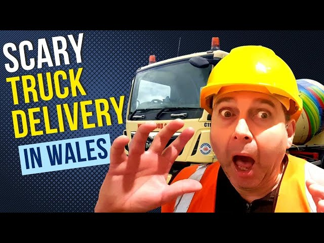 Scary Truck Delivery watch till the end !