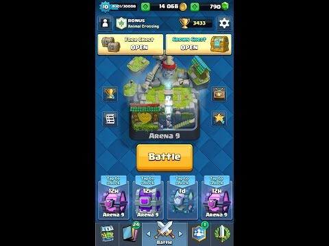 Clash Royale Arena 9 Chest Opening – Epic, Legendary Chests