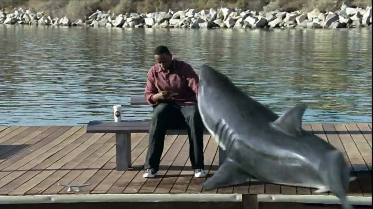 Interesting Pictures Funny: Funny Nicorette Commercial (shark) 720p