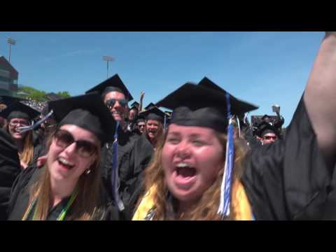 """""""This Little Light Of Mine"""" at 2017 UNH Commencement"""