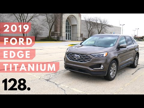 2019 Ford Edge Titanium // review walk around, and test drive // 100 rental cars