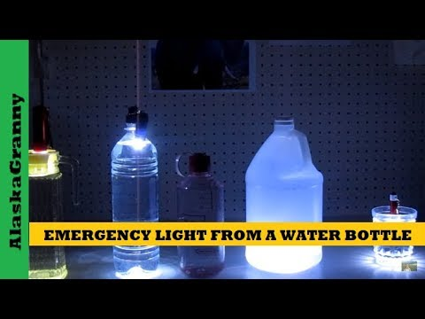 350df842ac Emergency Light From A Water Bottle - YouTube