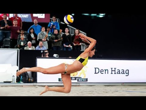 Women's Beach Volleyball Crazy Actions - DIGS SAVES