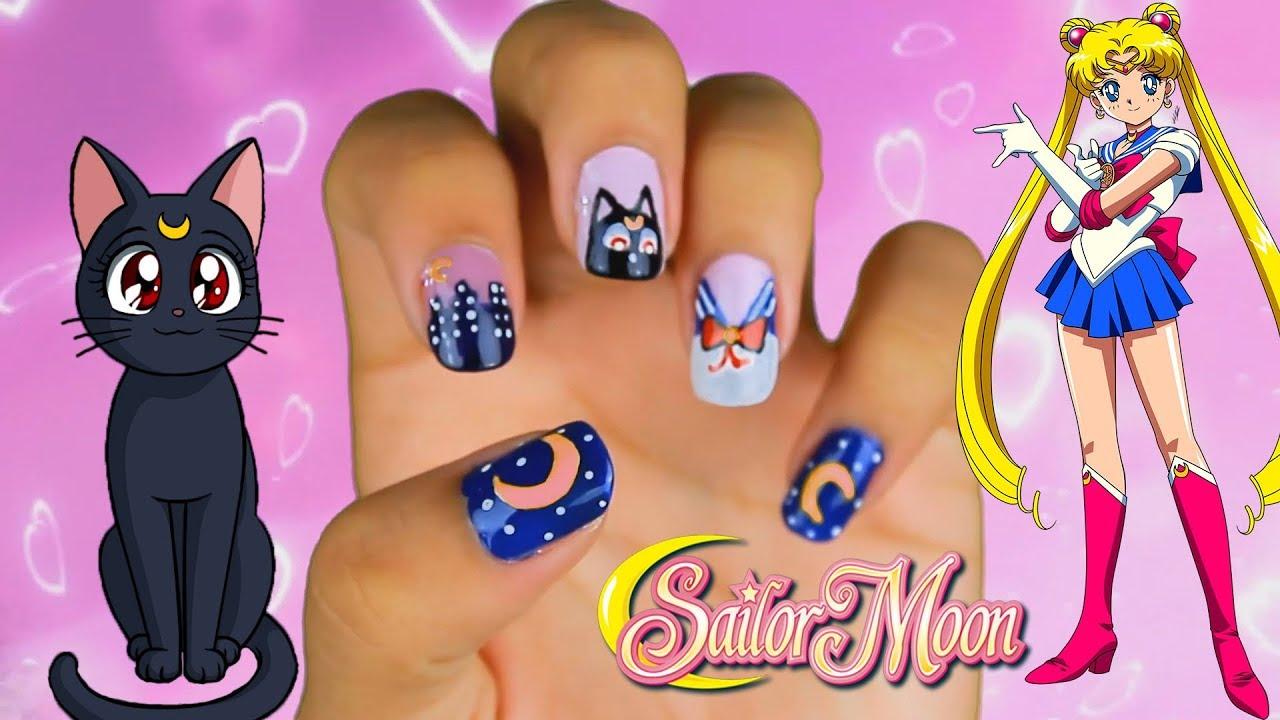 Uñas Sailor Moon Uñas Inspiradas En Los 90s Esmaltes Vogue Gel 100prekool