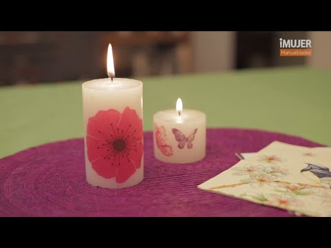 Velas decoradas c mo decorar velas imujerhogar youtube - Como decorar velas ...