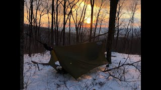 Solo Winter Camping iฑ 7F with 10 Mile Snow Hike