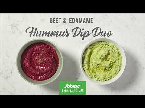 Beet and Edamame Dip Duo