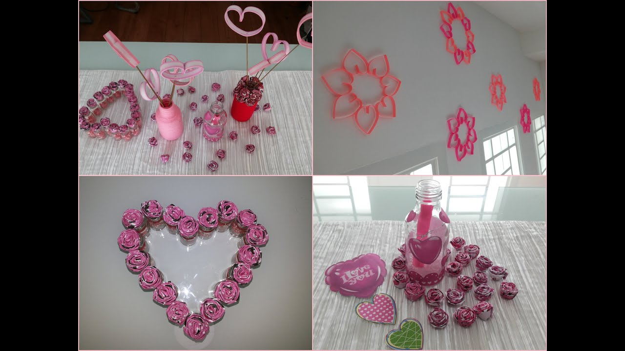 Diy room and home decoration valentine 39 s day decoration for Valentine day at home