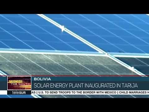 Bolivia Inaugurates Solar Plant