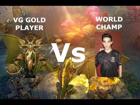 VG GOLD PLAYER VS WORLD CHAMP! Vainglory 5v5