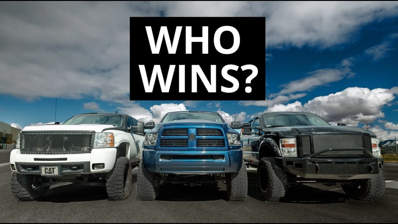 POWERSTROKE VS. DURAMAX VS. CUMMINS - YouTube