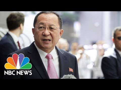 North Korean Foreign Minister: Donald Trump 'Declared War On Our Country'   NBC News