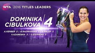 2016 WTA Title Leaders