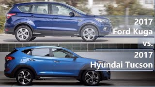 2017 Ford Kuga vs 2017 Hyundai Tucson (technical comparison)