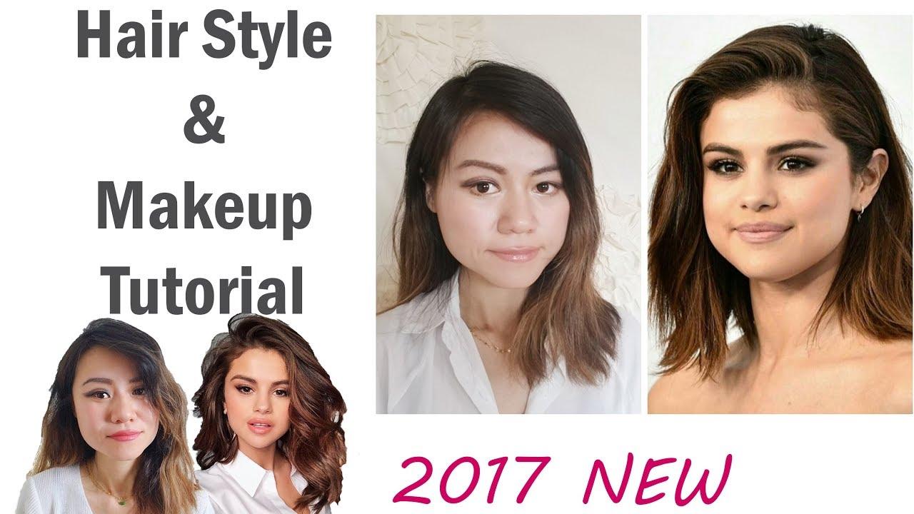Selena Gomez Easy Short Hair And Makeup Tutorial 2017 Transformation