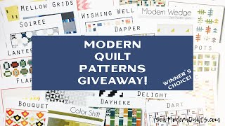 Sew Modern Quilts: Modern Quilt Pattern Giveaway!