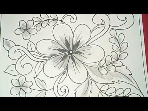 Cara Menggambar Batik Motif Bunga 47 Youtube
