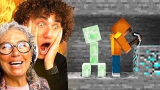 Teaching My MOM How To Play Minecraft!