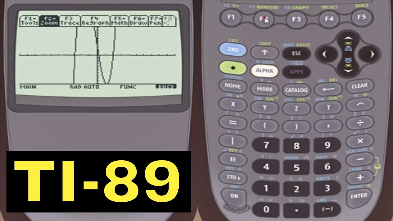 Ti 89 Calculator 34 Finding Inflection Points In Graph Mode