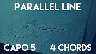 How To Play Parallel Line by Keith Urban | Capo 5 (4 Chords) Guitar Lesson